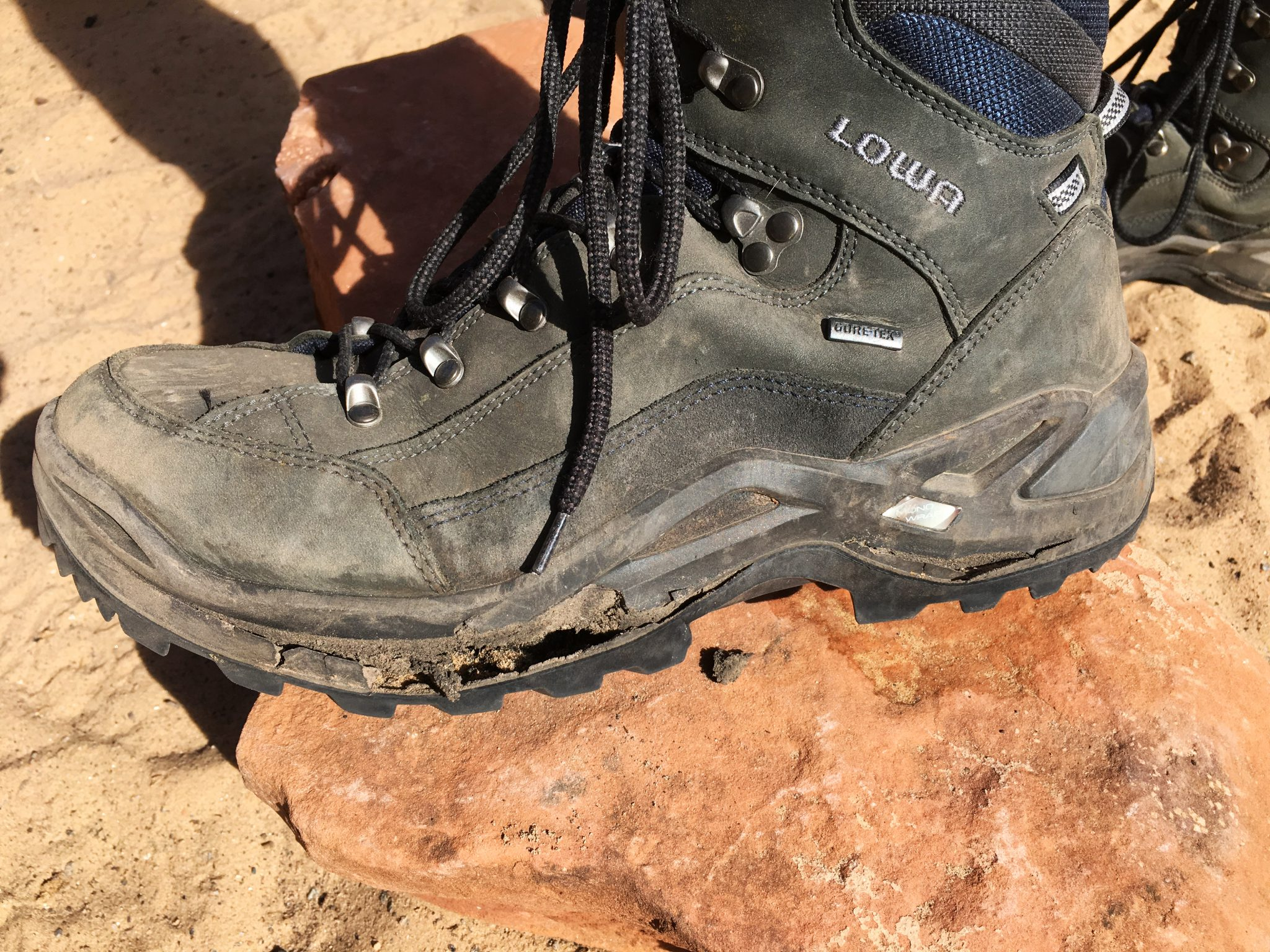 Tired old hiking boots
