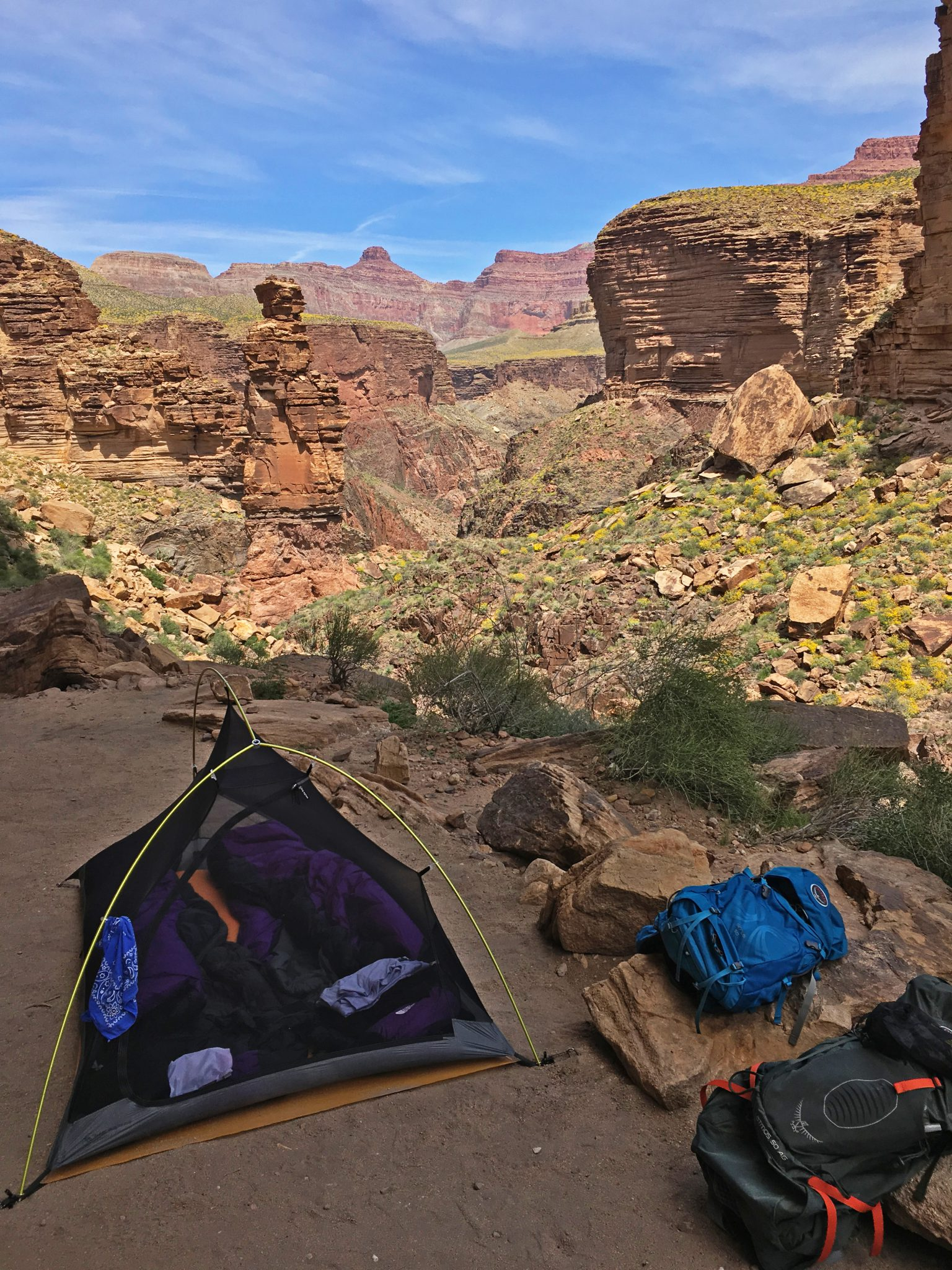 Monument Creek campground, Grand Canyon