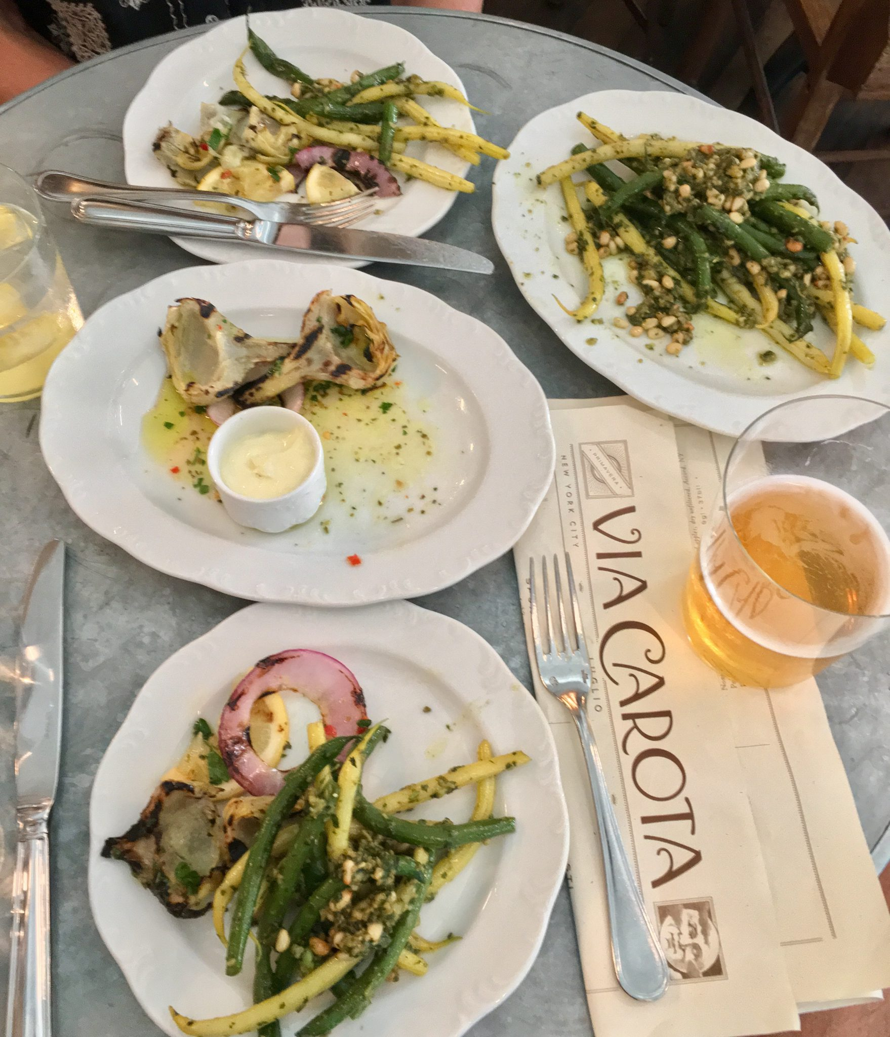 Sumptuous late lunch at Via Carota